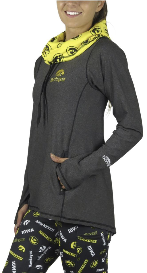 Funnel Neck Long Sleeve (Onyx) - Iowa Pullover BEND Active