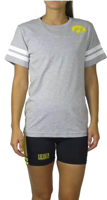 Iowa Hawkeye Jersey Tee (Grey) Top BEND Active
