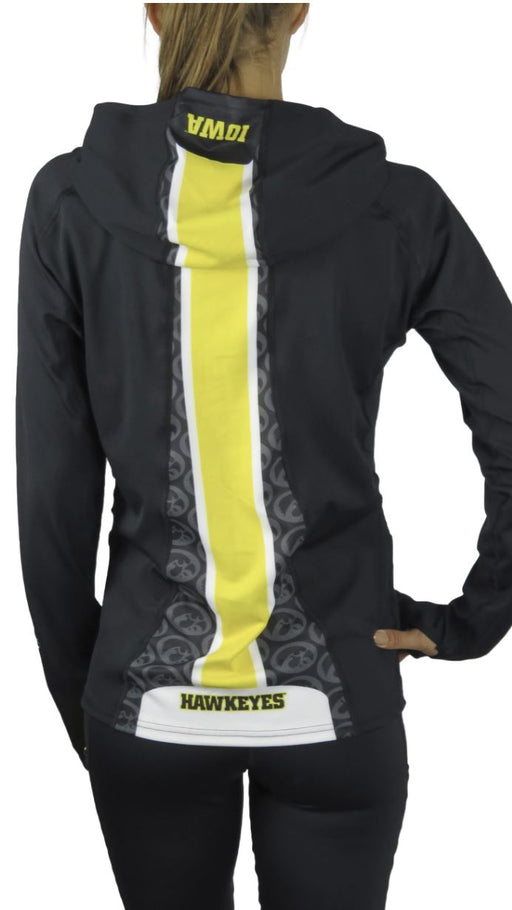 Iowa Hawkeye Ponytail Performance Hoodie (Black) Sweatshirt BEND Active