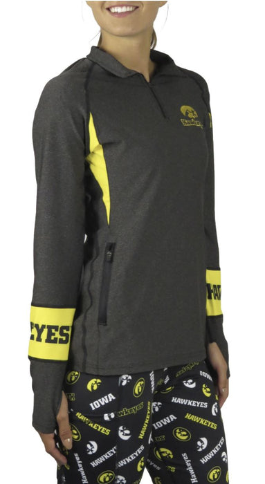 Iowa Hawkeye Quarter-Zip Pullover (Onyx) Pullover BEND Active
