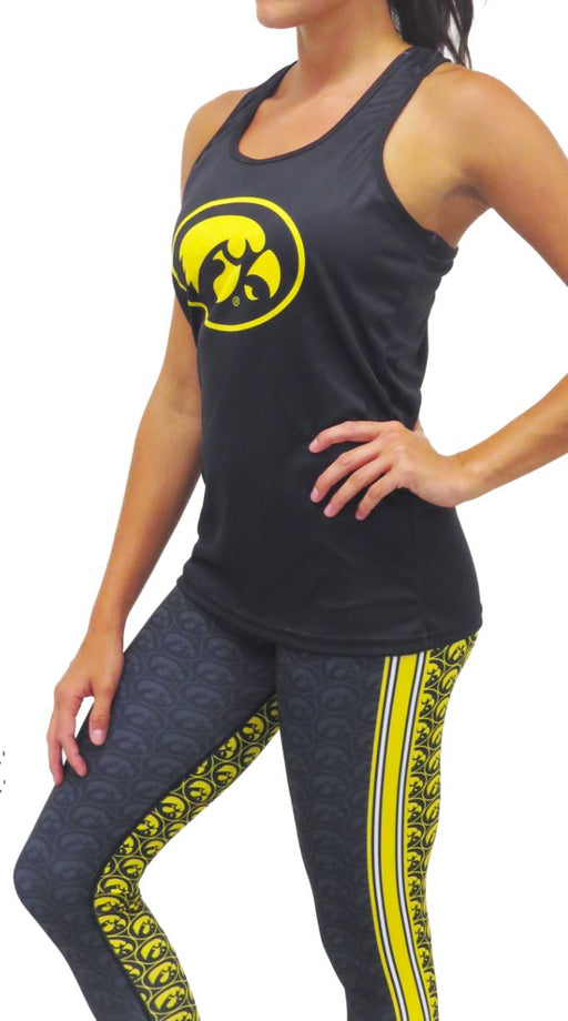 Iowa Hawkeye Racerback Tank (Black) Top BEND Active
