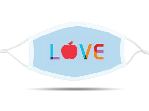 Love with Apple Face Cover with Adjustable Ear Straps Cloth Face Cover BEND Active