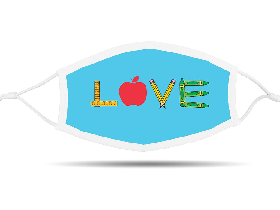 Love with School Supplies Face Cover with Adjustable Ear Straps Cloth Face Cover BEND Active