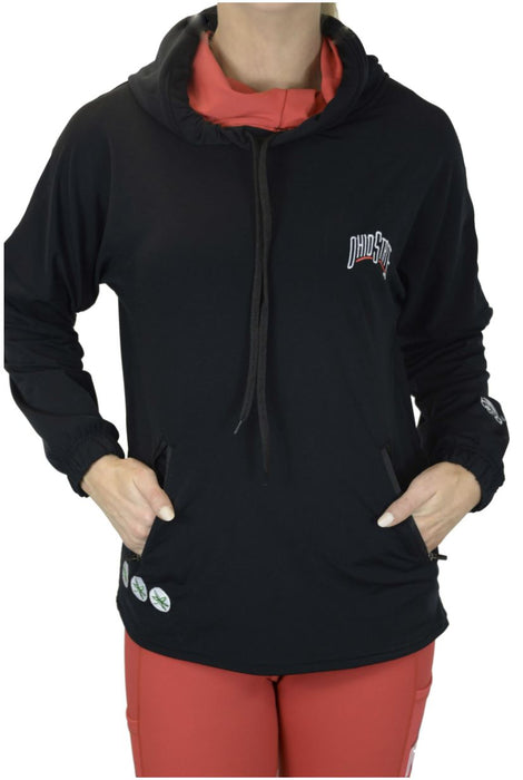NEW RELEASE - Ohio State Buckeyes Snorkel Neck Hoodie/Black Sweatshirt BEND Active