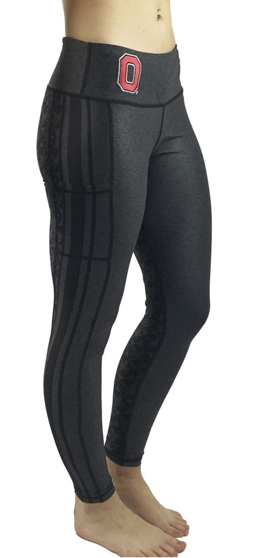 "NEW RELEASE - The ""2020 Vision"" Game Day Buckeye Legging/Black Legging BEND Active"