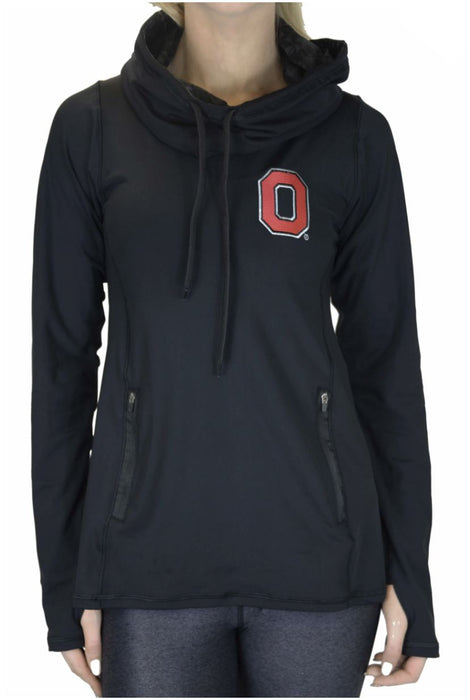 "NEW RELEASE - The Ohio State University ""2020 Vision"" Funnel Neck Long Sleeve/Black Sweatshirt BEND Active"