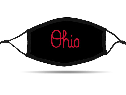 OHIO Design (Black) Face Cover with Adjustable Ear Straps Cloth Face Cover BEND Active