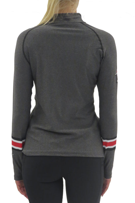 Ohio State 1/4 Zip Gameday Pullover/Charcoal Sweatshirt BEND Active