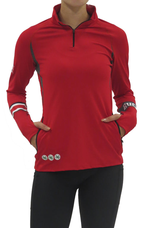Ohio State 1/4 Zip Gameday Pullover/Red Sweatshirt BEND Active