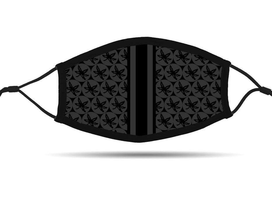Ohio State 2020 Vision (Black) Face Cover with Adjustable Ear Straps Cloth Face Cover BEND Active