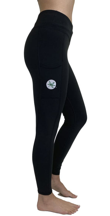 Ohio State Fleece Legging with Cell Phone Pocket (Black) Legging BEND Active