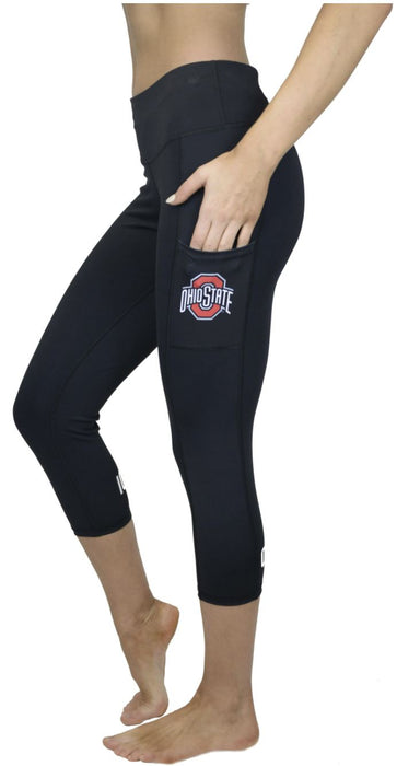Ohio State Victory Cell Phone Pocket Crop Legging (Black) Legging BEND Active