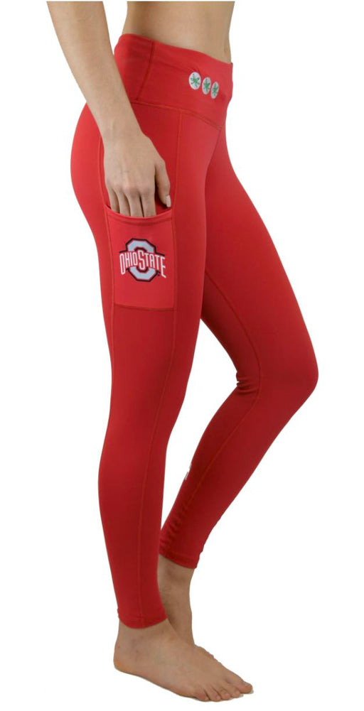 Ohio State Victory Cell Phone Pocket Full Length Legging (Red) Legging BEND Active