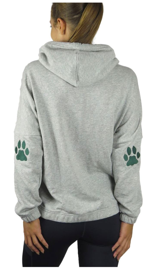 """Ohio University Bobcats"" Patchwork Snorkel Neck Hoodie (Heather Grey) Pullover BEND Active"