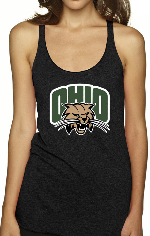 """Ohio University Bobcats"" Tri-blend Racerback Tank (Black) Top BEND Active"