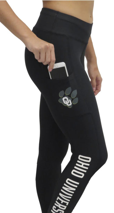 "Ohio University Bobcats ""Victory"" Cell Phone Pocket Legging (Black) Legging BEND Active"