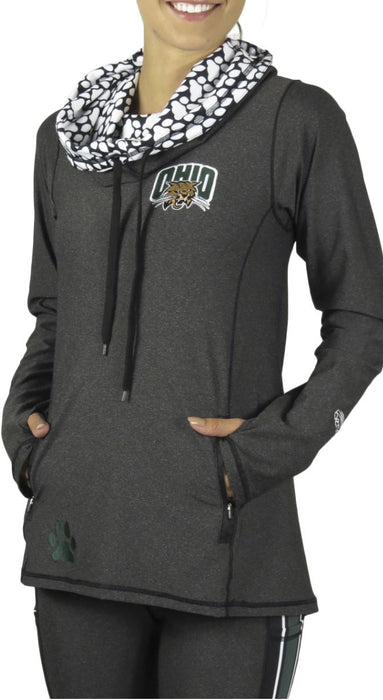 Ohio University Funnel Neck Long Sleeve (Onyx) Pullover BEND Active