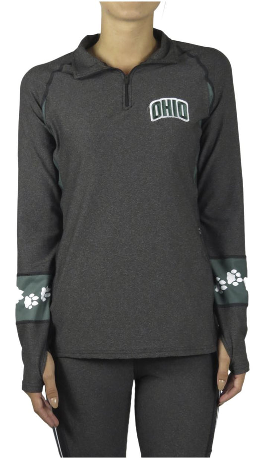Ohio University Quarter-Zip Pullover (Onyx) Pullover BEND Active