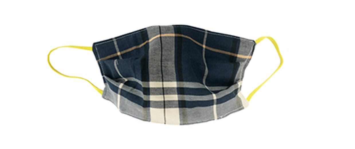 Plaid Fabric Face Cover with Elastic Ear Straps Cloth Face Cover BEND Active