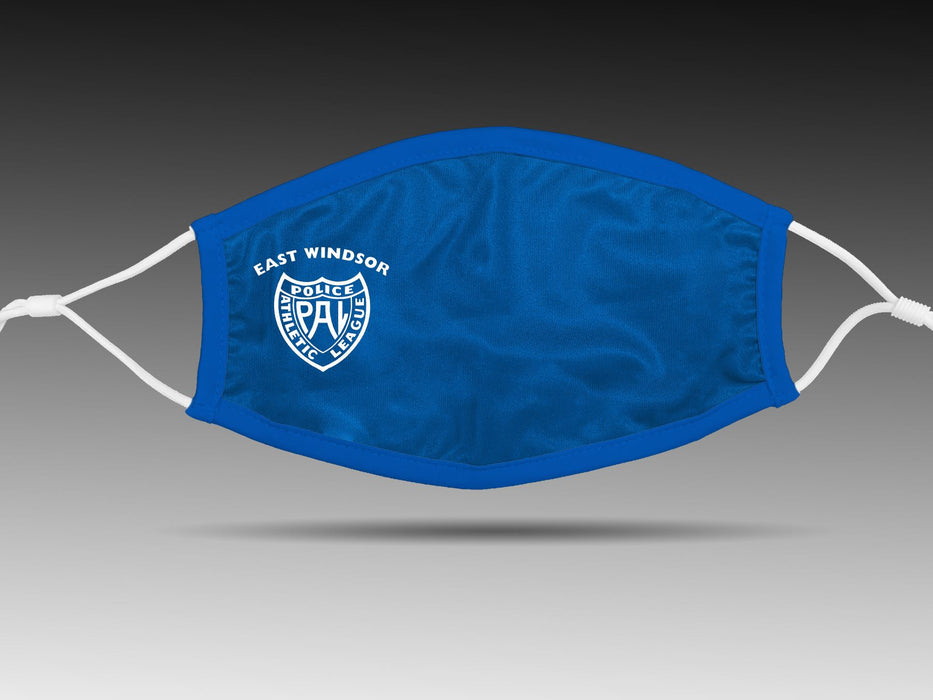 PRE-SALE: FACE COVER - East Windsor Police Athletic League (Blue) Cloth Face Cover BEND Active