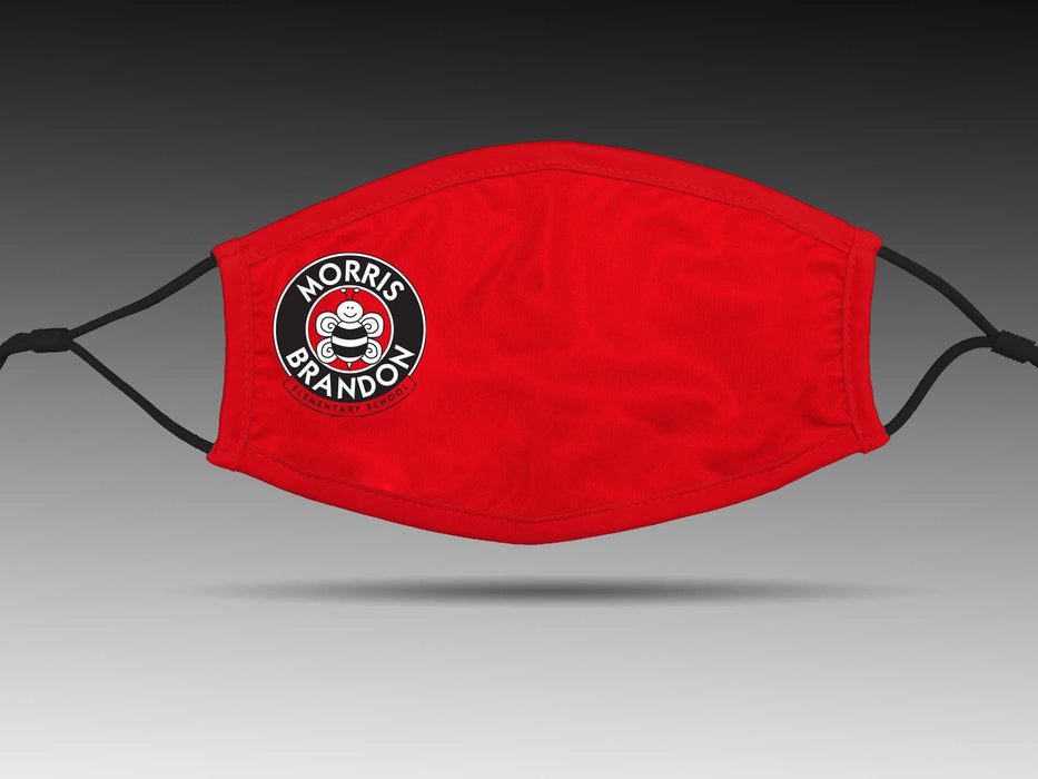 PRE-SALE: Morris Brandon Elementary School (Red) Cloth Face Cover BEND Active