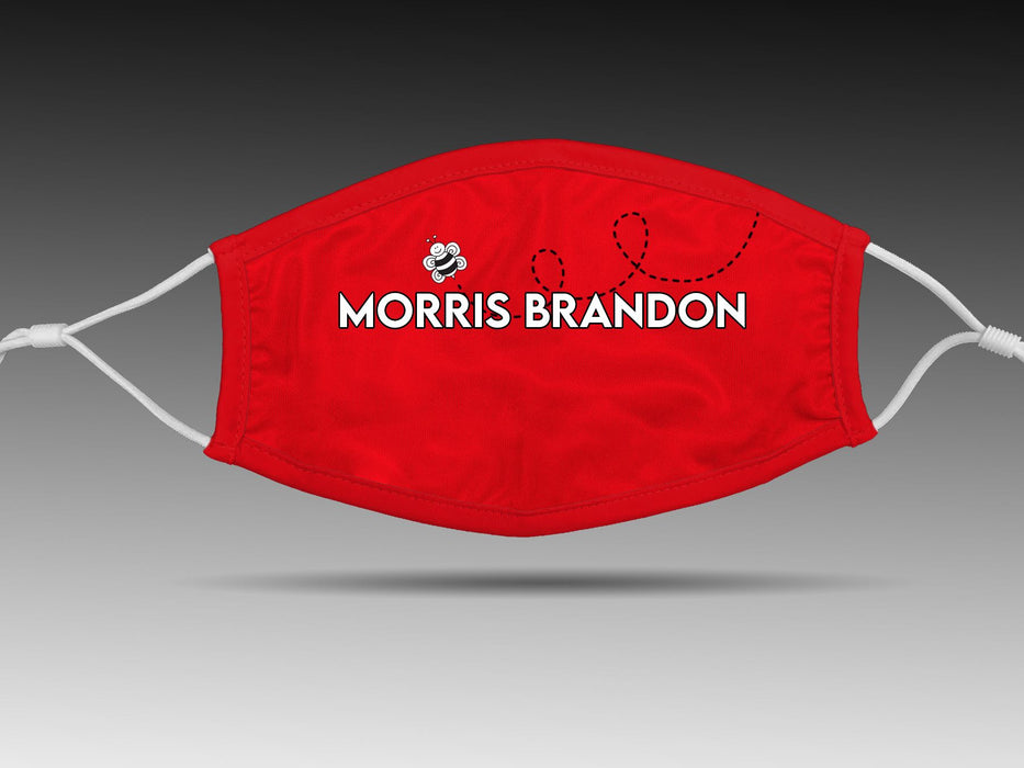 PRE-SALE: Morris Brandon Elementary School (Red/1 Bee) Cloth Face Cover BEND Active