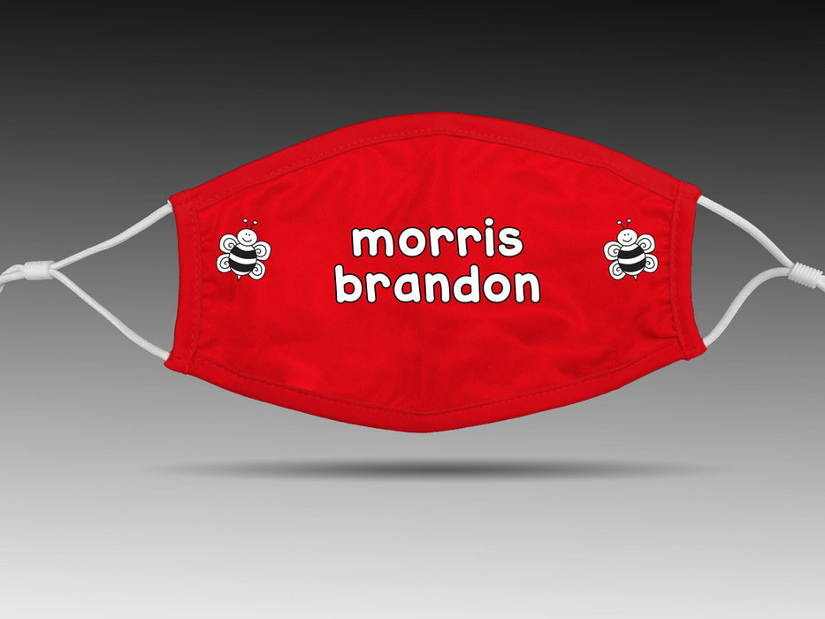 PRE-SALE: Morris Brandon Elementary School (Red/2 Bees) Cloth Face Cover BEND Active