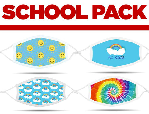 School Pack - 4 Masks Cloth Face Cover BEND Active