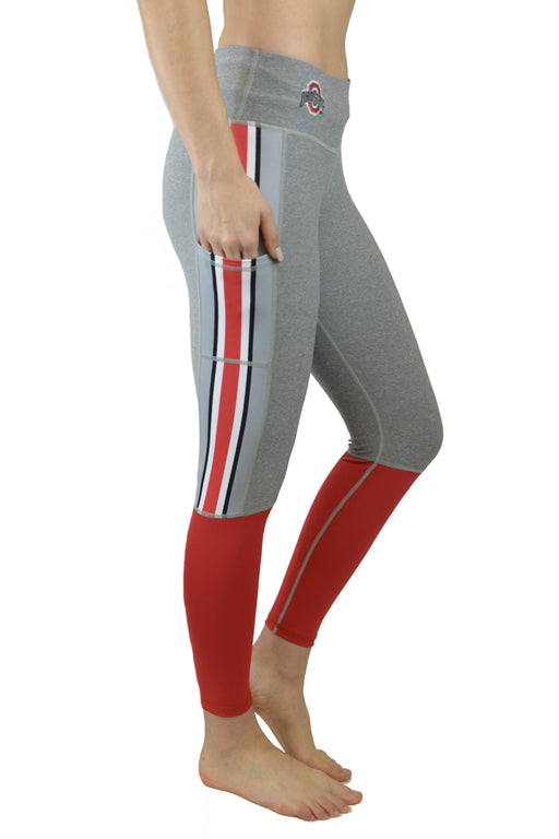 "The Ohio State University ""Touchdown"" Legging - Scarlet & Grey Bottoms BEND Active"