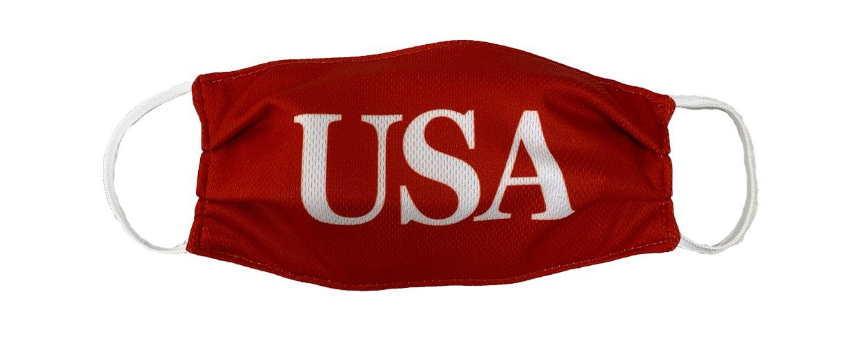USA Red Cloth Face Cover with Elastic Ear Straps Cloth Face Cover BEND Active