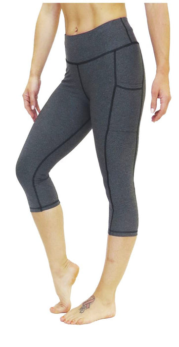 Victory Cell Phone Pocket CROP Legging (Charcoal) Legging BEND Active
