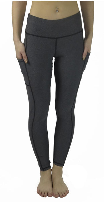 Victory Cell Phone Pocket Legging (Charcoal) Legging BEND Active