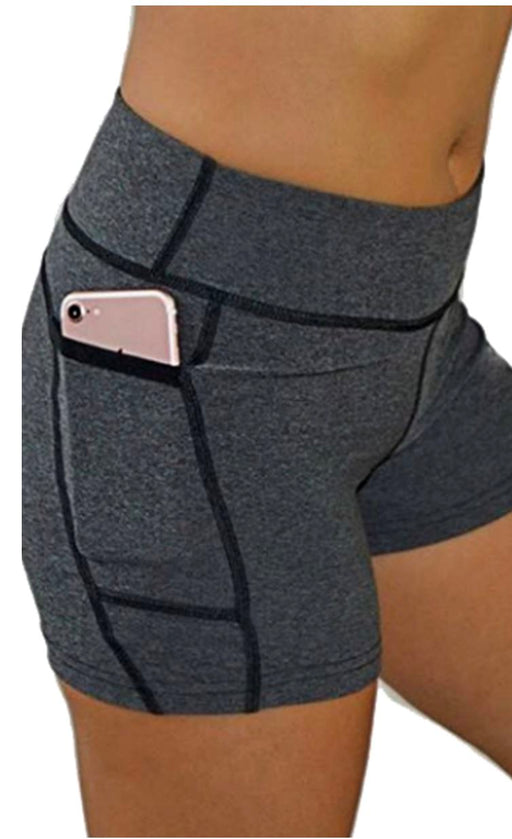 Victory Cell Phone Pocket Short (Charcoal) Bottoms BEND Active