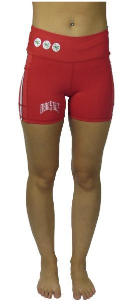 Victory Cell Phone Pocket Short (Red) - Ohio State Bottoms BEND Active