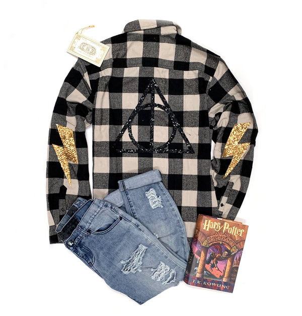 Deathly Hallows Flannel - Shop Love and Bambii