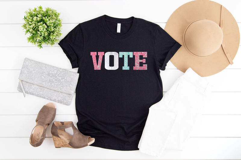Pastel Vote Tee Shirt - Shop Love and Bambii