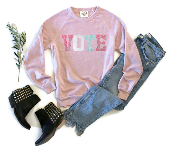 Pastel Vote Sweatshirt - Shop Love and Bambii