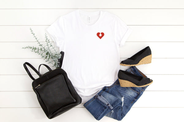 The Quiet Clot Glitter Pocket Tee