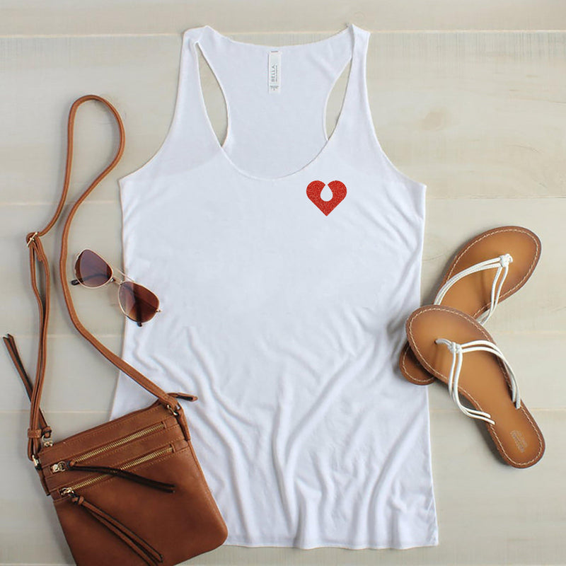 The Quiet Clot Glitter Pocket Tank
