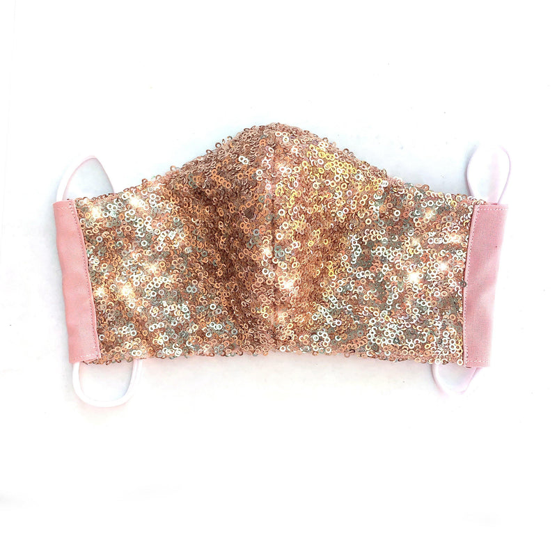 Sequin Fitted Face Mask - Shop Love and Bambii