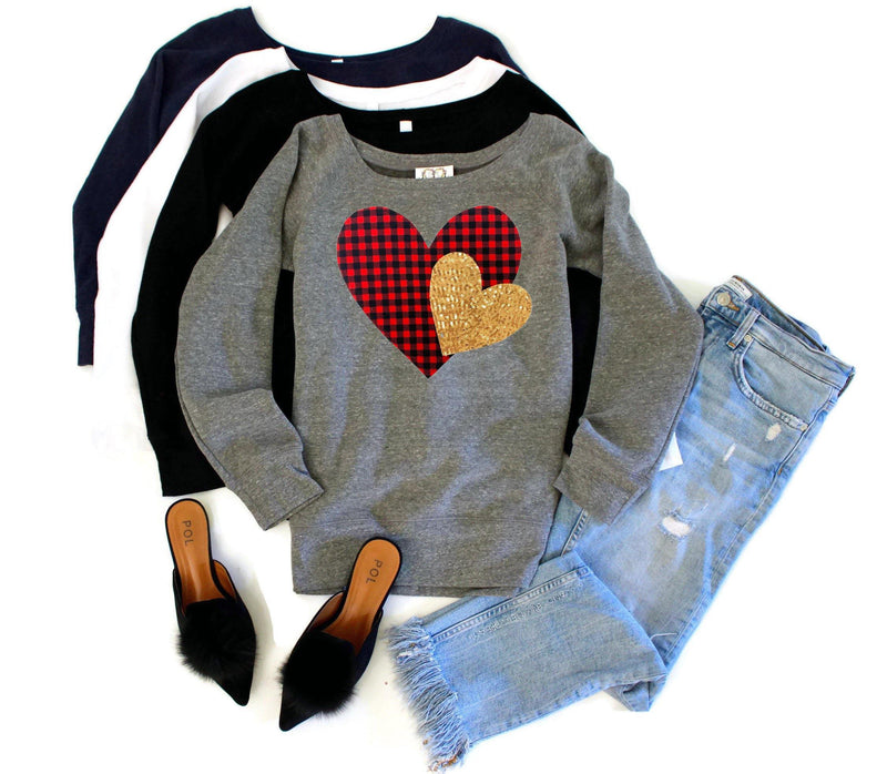 Plaid Heart Sweatshirt