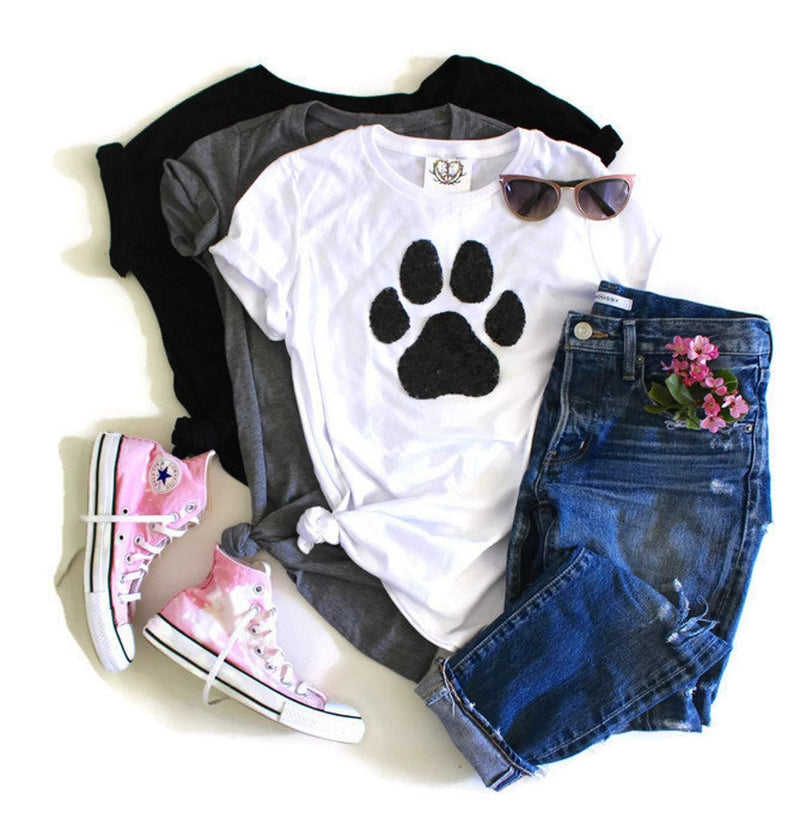 Dog Paw Tee Shirt - Shop Love and Bambii