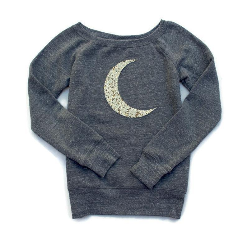 Crescent Moon Sweatshirt - Shop Love and Bambii