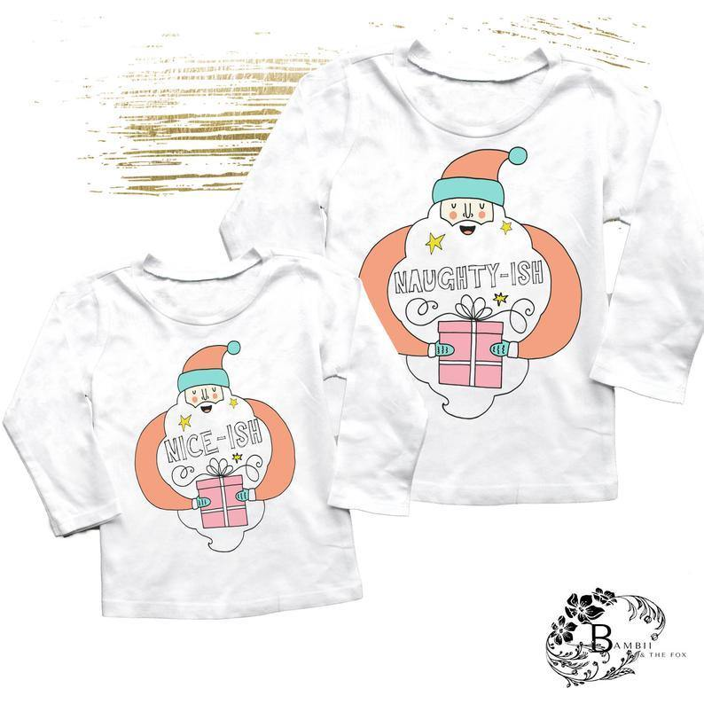Naughty or Nice Kids Christmas Tee - Shop Love and Bambii