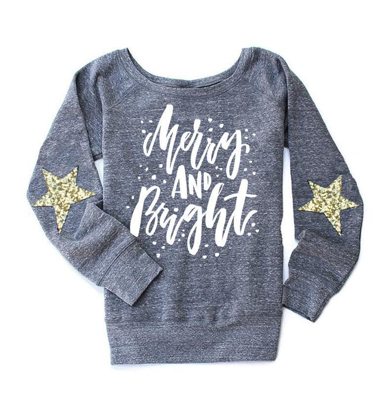 Merry & Bright Sweatshirt - Shop Love and Bambii