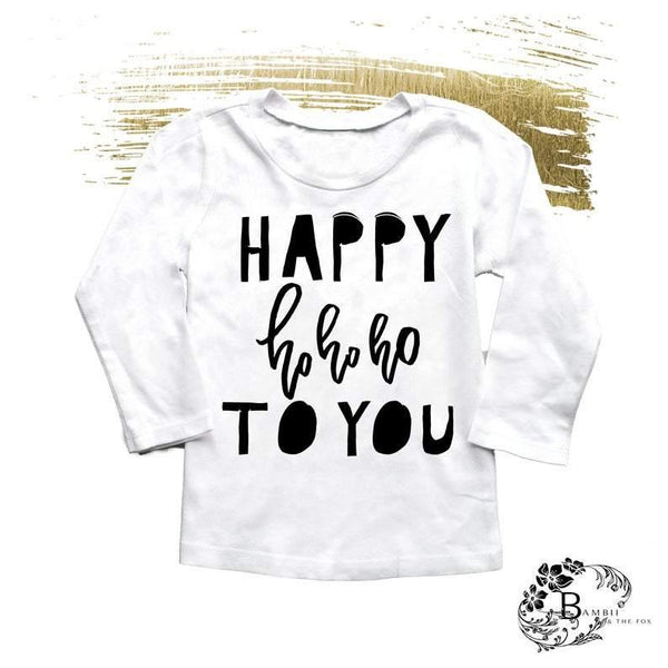 Happy Ho Ho Ho Kids Tees - Shop Love and Bambii