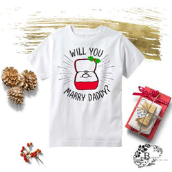 Will You Marry Daddy Kids Christmas Tee