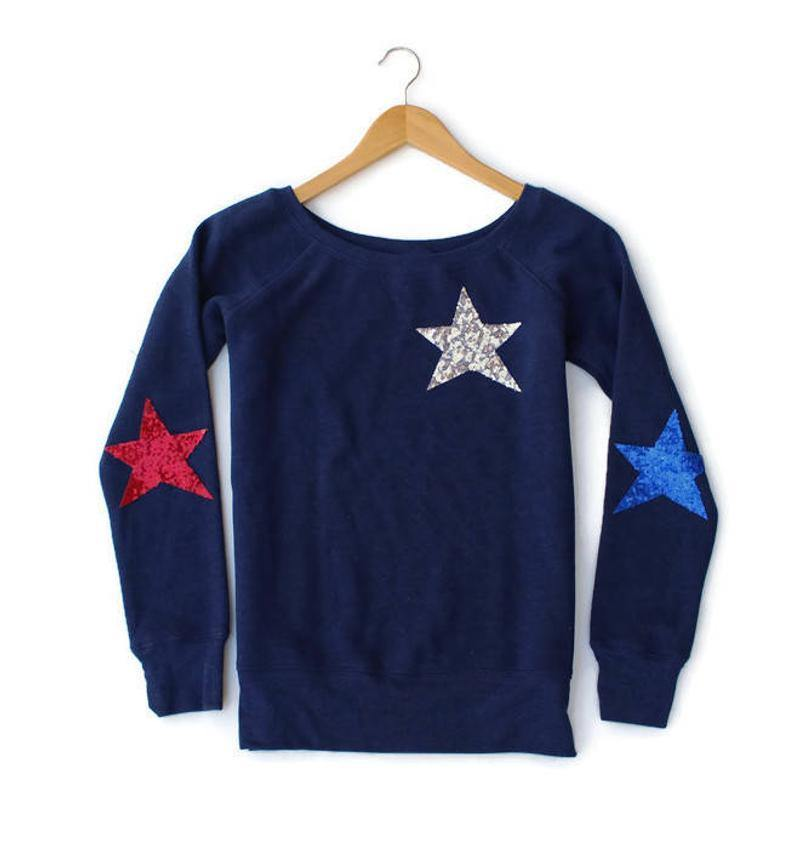 Patriotic Triple Star Sweatshirt - Shop Love and Bambii