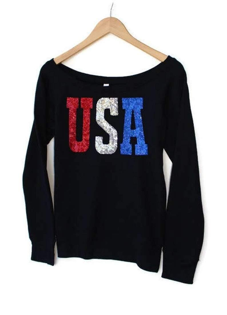USA Patriotic Sweatshirt - Shop Love and Bambii