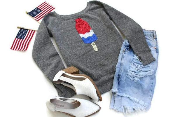 Bomb Pop 4th of July Sweatshirt - Shop Love and Bambii